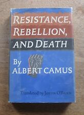 RESISTANCE REBELLION and DEATH by  Camus -1st/2nd  HCDJ  1961 - stranger plague