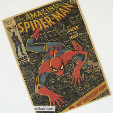Spider-Man Poster Classics Cartoon Role Brown Paper Old Retro Decor Poster A84