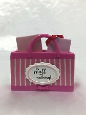 Pink Shopping Bag It's Mall or Nothing 2016 Hallmark Gift Ornament  Girl's Day