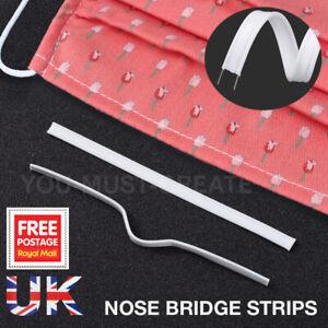 DUAL CORE NOSE BRIDGE STRIPS FOR FACE MASK DOUBLE WIRE STRIP GUARD MASKS UK 5mm