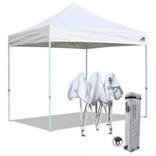 10x10 Waterproof Commercial EZ Pop Up Canopy Party Trade Show Tent W/Wheeled Bag