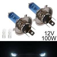 H4 100w Superwhite Xenon 472 Upgrade Headlight Bulbs 12v +501 LED Sidelights