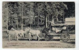 COACH TO INDIAN RESERVATION, CLOUDCROFT: New Mexico USA postcard (C63442)