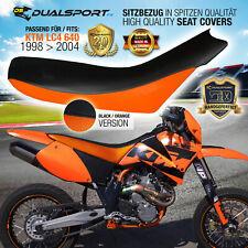 KTM LC4 620, 625, 640 SMC, SuperMoto Sitzbezug 98>04 Seat Cover ORANGE by DSFX