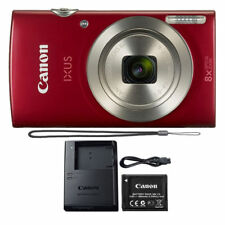 Canon IXUS 185 / ELPH 180 20MP Compact Digital Camera Red 20.0 MP 16X Zoom