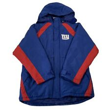 NFL Team Apparel New York Giants Blue & Red Hooded Coat - Kids Youth XXL (18)