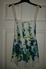 Women's New 100% Cotton Floral Tie Back Waistline Tops by PER UNA @ M&S 12 UK