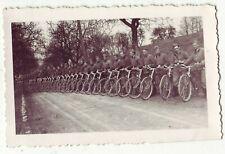 Foto Arbeitsdienst FAD Männer mit Fahrräder Nachrichtendienst 30-er Jahre