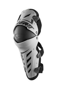 Leatt Dual Axis White Black Knee & Shin Guard Armor
