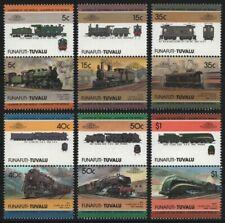 Tuvalu - Funafuti 1985 - Mi-Nr. 45-56 ** - MNH - Lokomotive / Locomotives