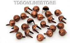 5/16 Inch Diameter Antique Copper Plated Leather Spots Package of 24