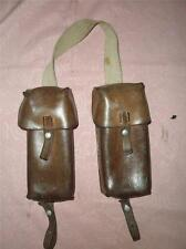 .WWII Swiss Leather Cartridge Pouches.