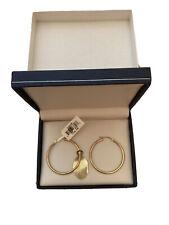 "1.6g Lightweight Hollow Tubes Solid 14K Yellow Gold 1-5//8/"" Diameter Endless Hoop Earrings 1.5mm wide"