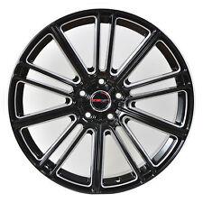 4 GWG Wheels 18 inch Black Laser Mill FLOW Rims fits VOLVO S70 2000