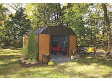 Arrow Sheds Wh1014 Woodhaven Steel Storage Shed - 10 ft. x 14 ft. - Woodgrain