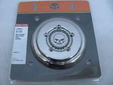 New Harley-Davidson Chrome Skull & Chain Air Cleaner Trim Kit 61400019 Dyna