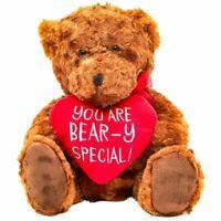 "Valentine's Day Teddy Bear with Red Heart Soft Plush Toy Wedding Birthday 10"""