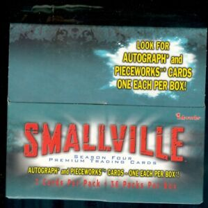 Smallville Season 4 OPENED Box of 36 Sealed Packs [No Autographs or Costumes]