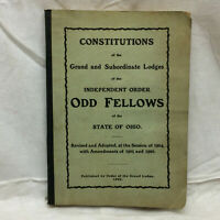 Vintage 1906 Book Independent Order Of Odd Fellows Constitutions Ohio Lodge