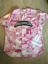 2015 Augusta Green Jackets Autographed MILBPink In The Park Size XXL Jersey