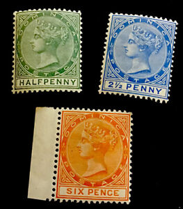 Dominica SG22,23,25 Victoria 1883 unmounted mint CV £31