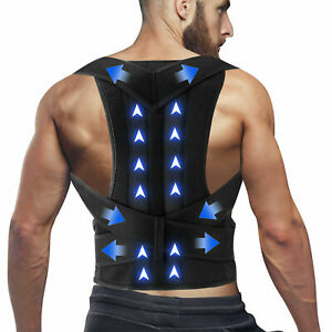 For Men Women Adjustable Posture Corrector Low Back Support Shoulder Brace Belt