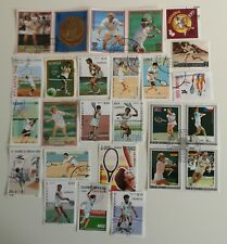 50 Different Tennis Stamps Collection