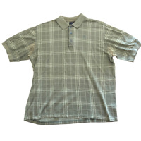 Burberry Golf Plaid Short Sleeve Polo Shirt, Size XL, Made in Italy, Classy
