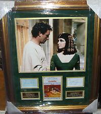 RICHARD BURTON and ELIZABETH TAYLOR CLEOPATRA Vintage Signed Montage AFTAL