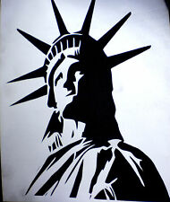 high detail airbrush stencil statue of liberty FREE UK POSTAGE