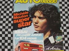 AUTO-HEBDO 1981 PEUGEOT 104 ARVOR / RALLYE SAN REMO + BILAN TERRE / ALAN JONES
