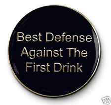 """""""Best Defense"""" Utility C/T AA 12 Step Recovery Program Enameled Coin/Medallion"""