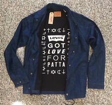 "LEVI'S ""GOT LOVE FOR PATTA"" BLUE JACKET L Denim supreme 501 undercover off-white"