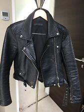 Womens Leather Biker Jacket ZARA Size S