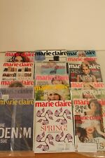 Lot of 16 - Marie Claire Magazine -Back Issues 2014/2015-