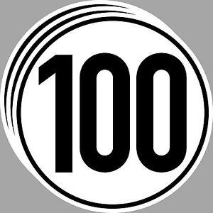 3 Aufkleber Sticker 100 kmh km/h 20cm Geschwindigkeit Auto Bus Pkw TÜV DIN1451