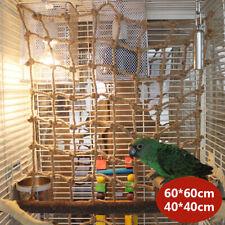 Pet Parrot Perch Bird Climbing Net Jungle Fever Swing Rope Animals Ladder Toys