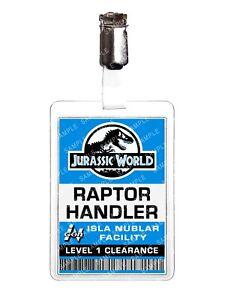Jurassic World Raptor Handler Cosplay Film Prop Fancy Dress Comic Con Halloween