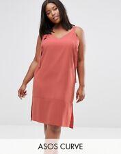 b9956d5d68e0 ASOS Curve Dungaree Style Slip Dress Rust - Size 22 NEW