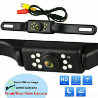 Wired Car Front Sides Rear View Reversing Camera 9 LED nightvision waterproof HD