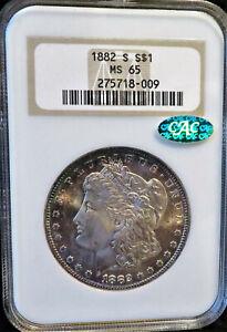 1882-S Morgan $1 NGC MS65 CAC * Old Fat Slab * Free Shipping