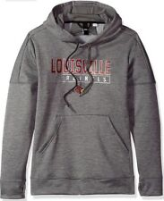 reputable site de24c 4390a Adidas Women s Louisville Cardinals Boxed In Hoodie Sweatshirt Small S NCAA