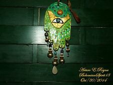 Artisan Arturo E.Reyna Hamsah Dove Of Peace Against Evil Eye Wall Plaque