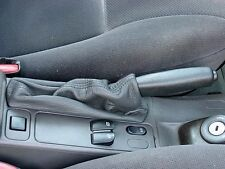SAAB 9.3 - 900 S/SE - hand brake boot in GREY GENIUNE LEATHER - made in Italy-@@