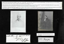More details for british duke and duchess of grafton w h fitzroy signed autograph mount