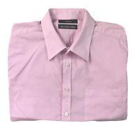 Calibre Mens Italian Fabric Button Up Long Sleeve Slim Pink Stripe Shirt Size S