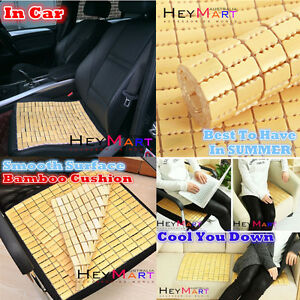 Bamboo Cooling Seat Cushion Seat Cove Breathable Cover Pad Mat Car Office Home