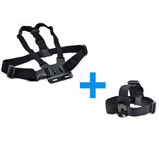Harness Head + Chest Strap Mount Accessories For GoPro Hero 2 3 4 5 Camera