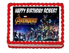 Avengers Infinity War party edible cake image cake topper frosting sheet*