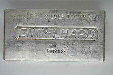 100 oz .999 Engelhard Silver Bar